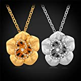 GDSTAR Gold Jewelry 18K Gold Plated Trendy Flower Gift Wife Crystal Vintage