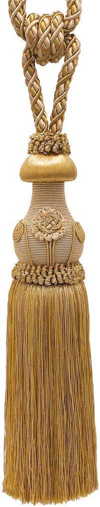 embrace  style#  tbc055-spr24 old gold decorative tassel tiebacks 5 12 tassel length 24 spread d05  color  old gold 8362