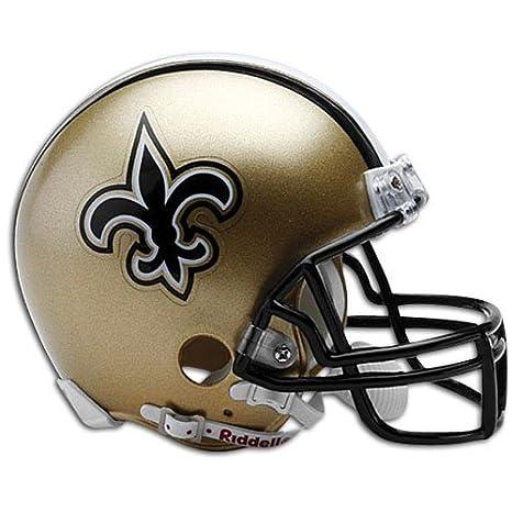 da41df202dd Amazon.com   NFL New Orleans Saints Replica Mini Football Helmet   New  Orleans Saints Mini Helmet   Sports   Outdoors