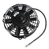 Electric Radiator Cooling Fan - SODIAL(R) 7'' inch Electric Radiator/Intercooler 12v Slim Cooling Fan + Fitting Kit