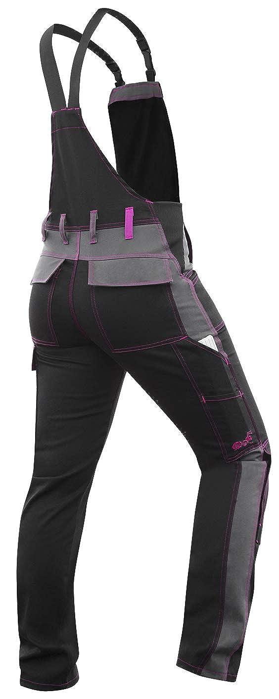 Pantalon de /élastique Poches pour genouill/ères strongAnt Salopette de Travail Berlin Femme Noir Gris Made in EU