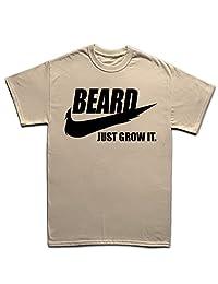 Beard Just Grow It Hipster Funny T Shirt
