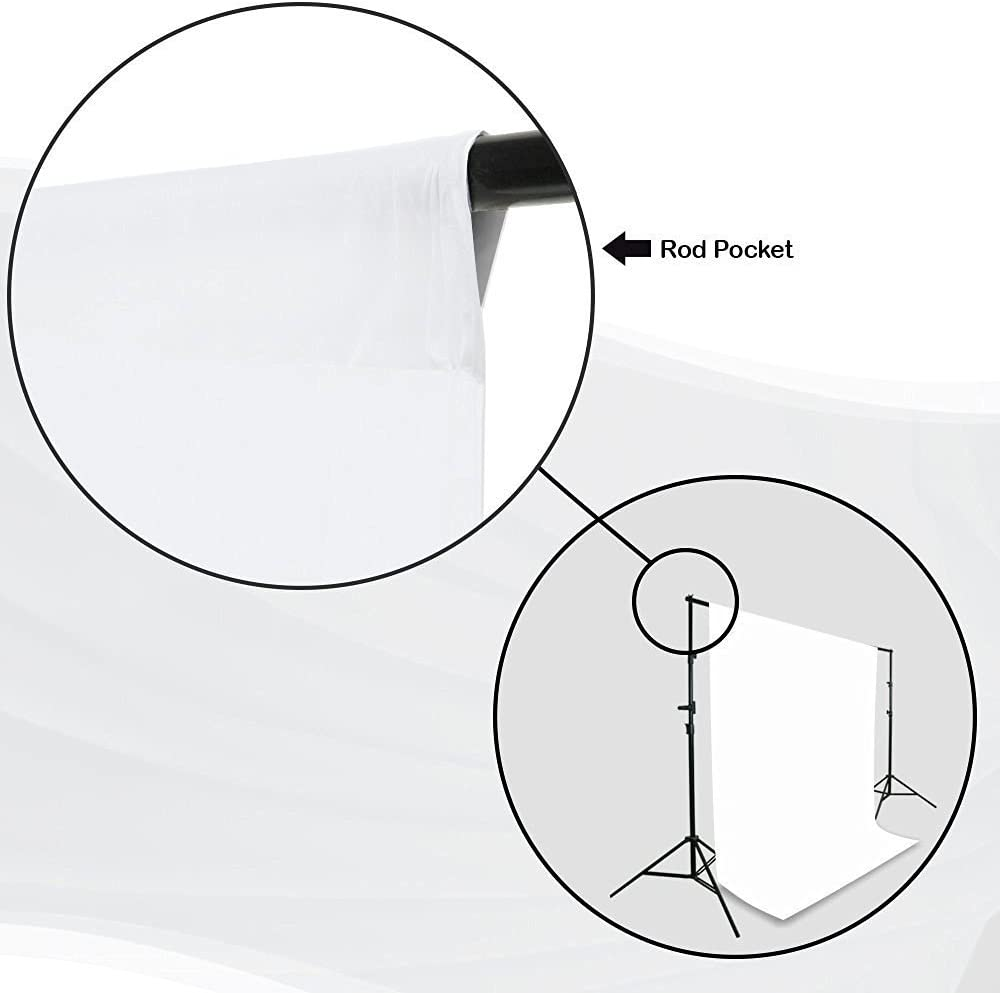 Backdrop Support Stand with Carry Bag LimoStudio Photo Studio Black and White Backdrop Background Kit AGG795