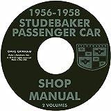 1956 1957 1958 STUDEBAKER PASSENGER CAR REPAIR SHOP & SERVICE MANUAL CD -