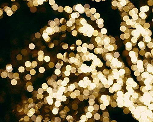 Lighted Tree Abstract Art Photography Print, Light Sparkles, Gold and Black Wall Decor, Modern Wall Print 5x7,8x10, 11x14, 12x16,16x20 by Natural Photography Spa