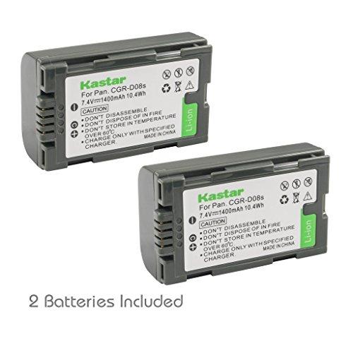 Kastar Battery 2 Pack for Panasonic CGR-D08 D08S CGR-D14 CGR-D16 D16S CGR-D28 D28S, CGR-D120 CGR-D210 CGR-D220 CGR-D320 & Panasonic AG Series, AJ-PCS060G, DZ-MX5000, NV Series, PV Series, VDR-M20