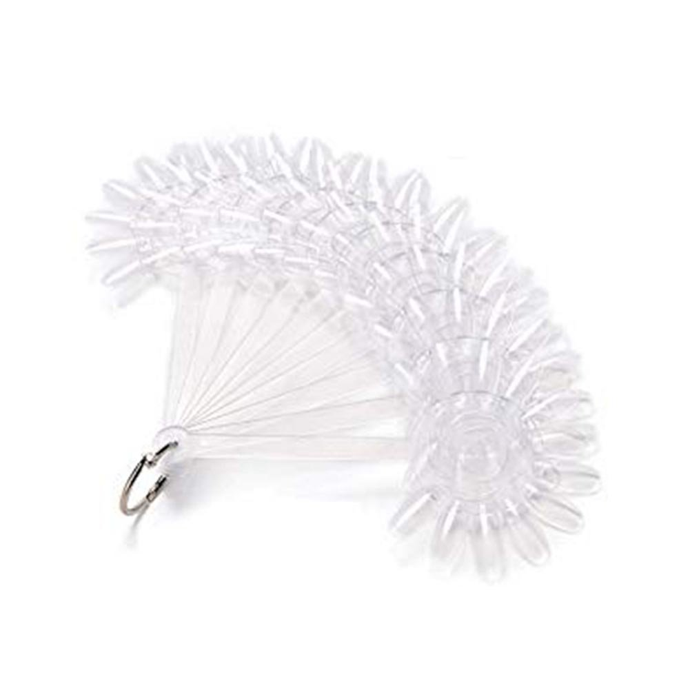 Rocita Set de Uñas Falsas de Práctica, Nail Art Display, Uñas falsas para ejercicio transparentes forma de flor tarjeta de color de manicura 10pcs
