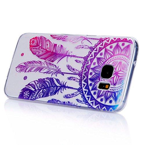 Funda Samsung Galaxy S7,SainCat Moda Alta Calidad suave de TPU Silicona Suave Funda Carcasa Caso Parachoques Diseño pintado Patrón para CarcasasTPU Silicona Flexible Candy Colors Ultra Delgado Ligero  Campanula