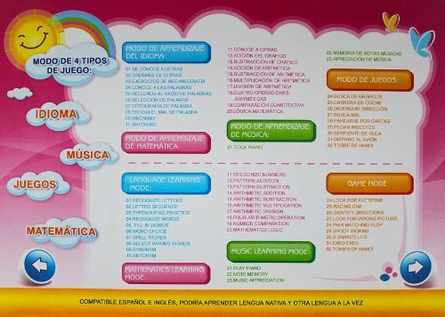 Liberty Imports Bilingual Advanced Learning Children Laptop - English and Spanish (Pink) by Liberty Imports (Image #6)