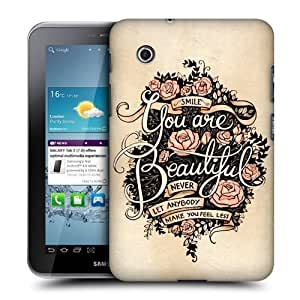 AIYAYA Samsung Case Designs Beautiful Introspection Protective Snap-on Hard Back Case Cover for Samsung Galaxy Tab 2 7.0 P3100 P3110