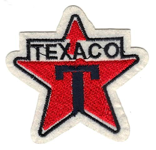 Patch TEXACO Gas Tank Motor Diesel Oil Service Station Pumpist Hot Logo Biker Drag Grand Prix Race Sports Petrol Girl Polo Badge Rare Moto Applique Embroidered Applique Iron Sew On Bestdealhere (2)]()