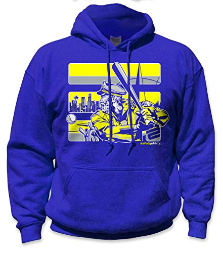SafetyShirtz Seattle The Skipper Safety Hoody Blue/Yellow ()