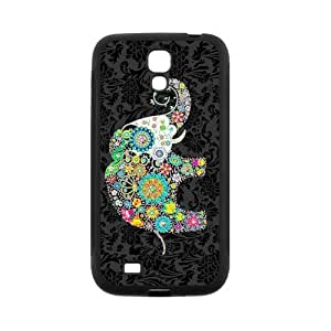 Vintage Monogram Elephant Protective Rubber Back Fits Cover Case for SamSung Galaxy S4