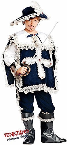 Italian Made Prestige Deluxe Baby & Older Boys Musketeer Historical Carnival Halloween Fancy Dress Costume Outfit 0-12 Years (9 Years)]()