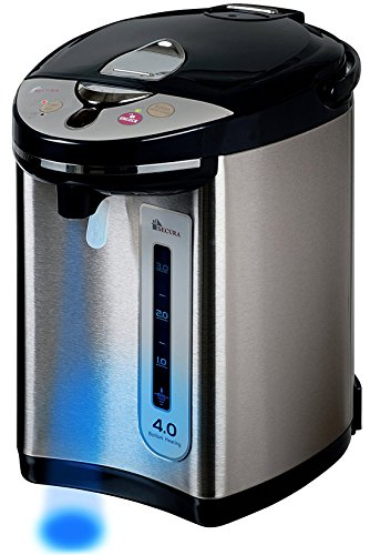 Secura Electric Water Boiler and Warmer 4-Quart Electric Hot Pot Kettle w/Night light, 18/10 Stainless Steel Interior WK63-M2