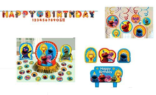 Sesame Street Decorating Kit - Swirls, Banner, Centerpiece, and -