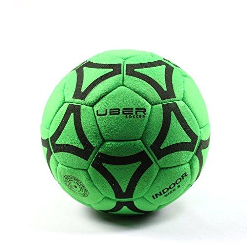 Uber Soccer Indoor Felt Ball - Neon Green - Size 5 (Soft Soccer Ball)