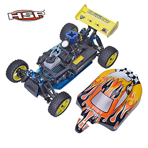 Toy, Play, Game, HSP 94166 1:10 Nitro Gas Powered RC Racing Car Backwash Two Speed Off Road Buggy High Speed Drift Remote Control Car Boy Toys, Kids, Children