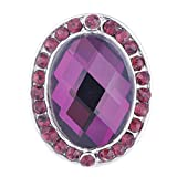 Wholesale Vocheng 18mm Inlaid 3 Colors Rhinestone Oval Snap Jewelry Vn-102220 Pack of 20pcs (purple)