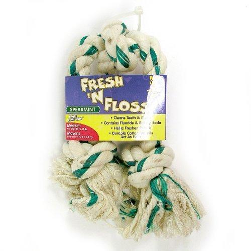 Booda Fresh N Floss 3 Knot Tug Rope Dog Toy, Medium, Spearmint by Booda [Pet Supplies]