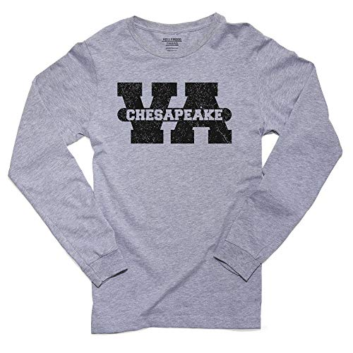 Hollywood Thread Chesapeake, Virginia VA Classic City State Sign Men's Long Sleeve T-Shirt]()