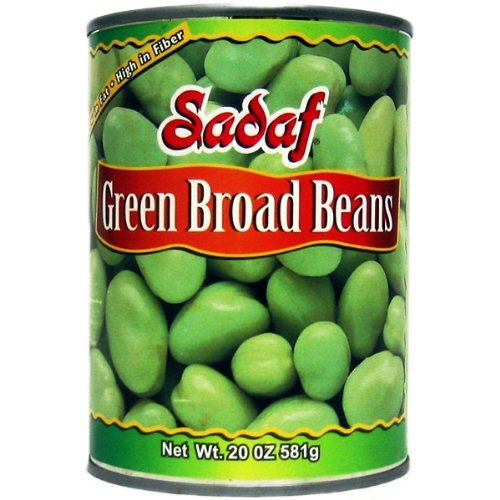 Sadaf Green Broad Beans, 20-Ounce (Pack of 8)
