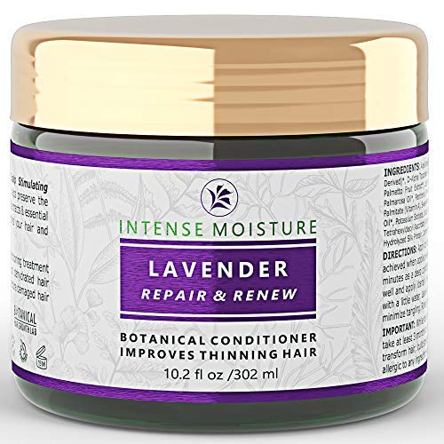 - Hair Loss Conditioner Lavender - Cypress Intensive Repair For Weak Thinning Hair - Lab Formulated - Postpartum / Alopecia / DHT Bocking 10.2 Oz