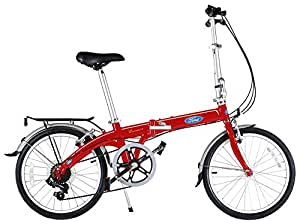 Ford 20 Inch Convertible 7-Speed Folding Bicycle (Red) 38