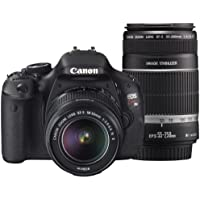 Canon EOS Kiss X5 Digital SLR Camera 2 Lens Kit - International Version (No Warranty)