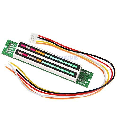 Mini Dual 12 Level Indicator VU Meter Stereo Amplifier Board Adjustable Light Speed Board Module with AGC Mode Assemed