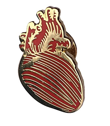 Anatomical Heart Brooch - Anatomical Heart Lapel pin