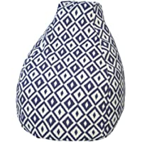Gold Medal Bean Bags Outdoor/Indoor Tear Drop Bean Bags, 18-Inch, Aztec Denim