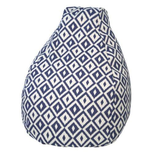 (Gold Medal Bean Bags Outdoor/Indoor Tear Drop Bean Bags, 18-Inch, Aztec Denim)