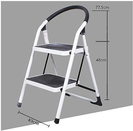Xiao Jian- Escalera de carácter Multifuncional Escalera Plegable del hogar pequeña Silla de la Escala Escalera Plegable escaleras de Doble Uso heces Escalera Interior Taburetes Escalera: Amazon.es: Hogar