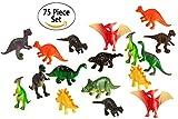 75 Piece Party Pack Mini Dinosaurs - Plastic Mini Educational Dinosaur ...