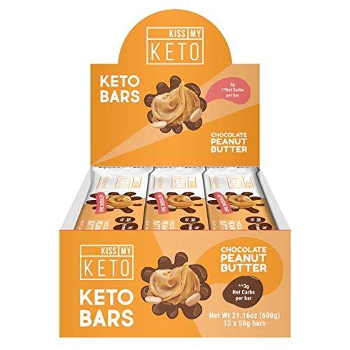 Kiss My Keto Snacks Keto Bars - Keto Chocolate Peanut Butter, Nutritional Keto Food Bars, Paleo, Low Carb/Glycemic Keto Friendly Foods, All Natural On-The-Go Snacks, Quality Fat Bars 3g Net Carbs by Kiss My Keto (Image #2)