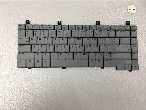 (Replacement Keyboard with Big Enter for HP Compaq C300 C500 V2000 M2000 R3000 Series Grey White US Layout)