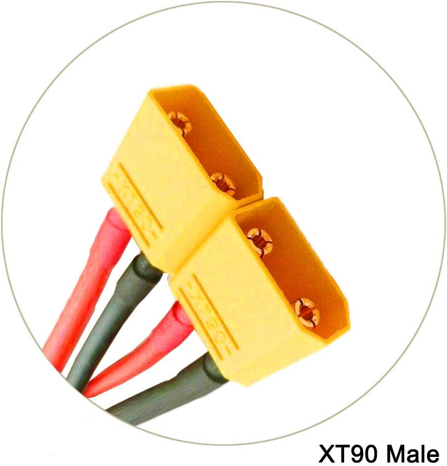 2 Piezas TRAXXAS TRX Conector de Enchufe Cable Paralelo Cables de extensi/ón 1 a 2 Adaptador para RC Racing