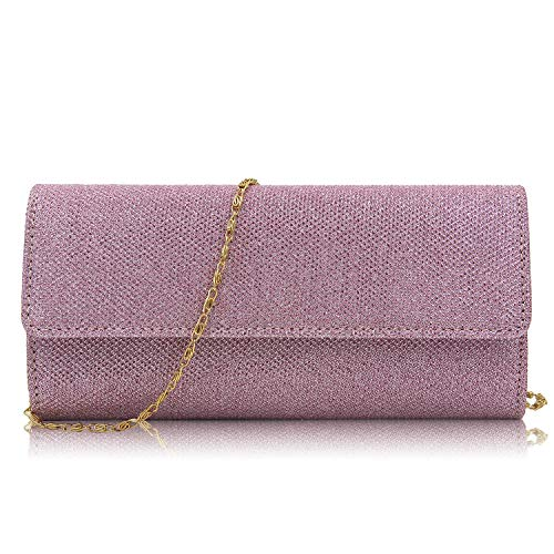 for Evening Party Sparkling Pink Clutch Prom Party Glitter Bags Crossbody Wedding Women Ladies Wedding Bag Handbag Purses Superw Iw7WEvqAdI