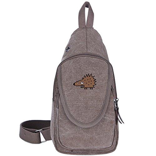 artoon Hedgehog Crossbody Chest Bag Canvas Travel Backpack For Shoulder (William Joseph Fly Vest)