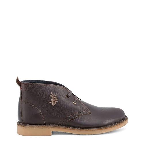 U.S. Polo Zapato con Cordones MUST3119S4 Hombre Color: Marrón ...