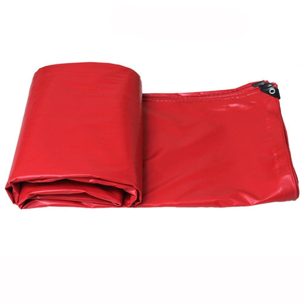 厚い防水性の雨日焼け止めの防水シートのタパフリントラックのファジー布の防水シートPVC (色 : Red, サイズ さいず : 7 * 5m) B07FLQTMVS 7*5m|Red Red 7*5m