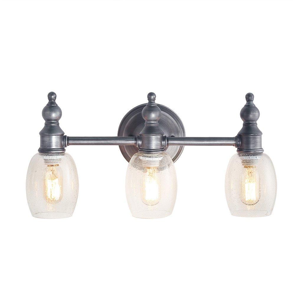 LOG BARN 3-Light Vanity Lighting Wall Lights Aged Steel Wall Sconces Bathroom Vanity Lights
