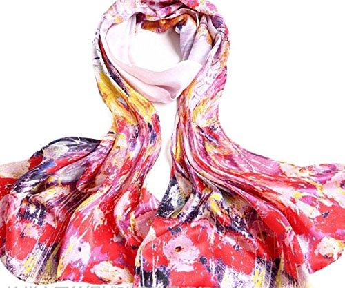 S Cloth Fashion Floral Satin Silk Ladies Long Shawl