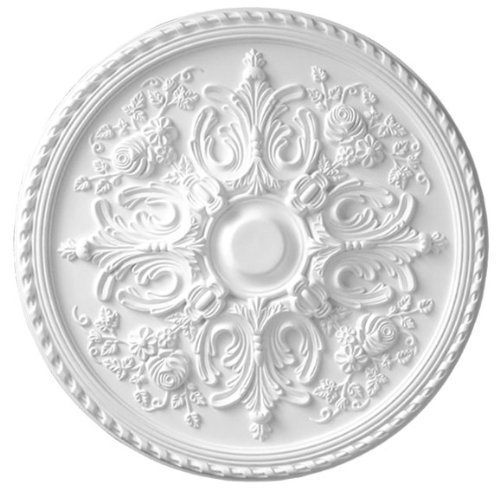 33 Inch Versailles Ceiling Medallion White Primed Polyurethane 32 5/8 Inch Diameter By Designer's Edge Millwork #D582 by Designer's Edge Millwork
