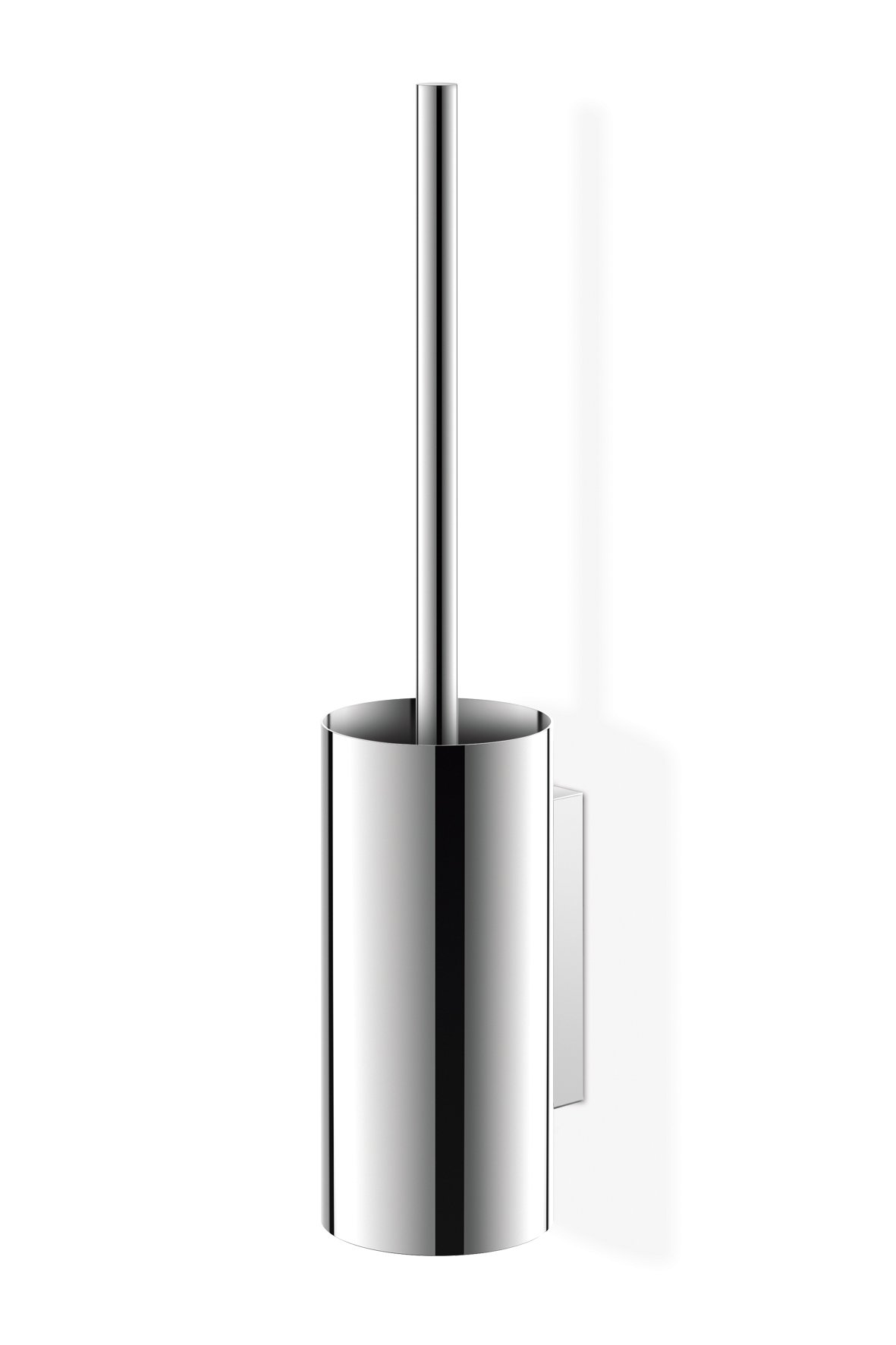 ZACK 40026 Linea Wall Mounted Toilet Brush, 17.72-Inch by 3.54-Inch, High Glossy Finish