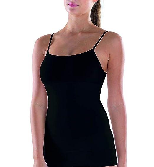 Blackspade Damen Figurformendes Top - Shapewear Unterhemd aus Hochwertigem Mischgewebe