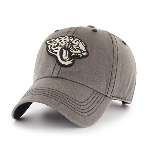 NFL Jacksonville Jaguars Deck Hand OTS Challenger Adjustable Hat, Charcoal, One Size