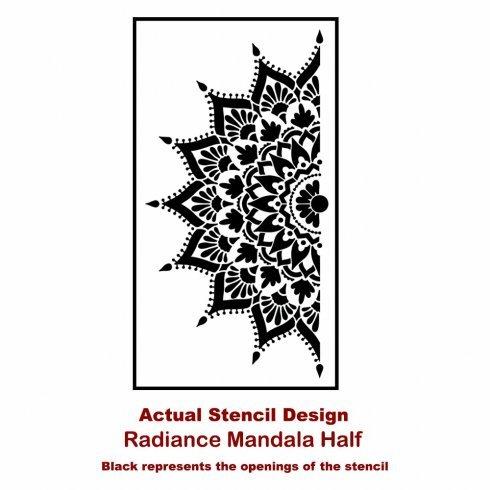 Mandala Stencil Radiance - Trendy Easy Beautiful DIY Wall Stencil Designs - Reusable Stencils for DIY Home Decor - By Cutting Edge Stencils (44'') by Cutting Edge Stencils (Image #8)