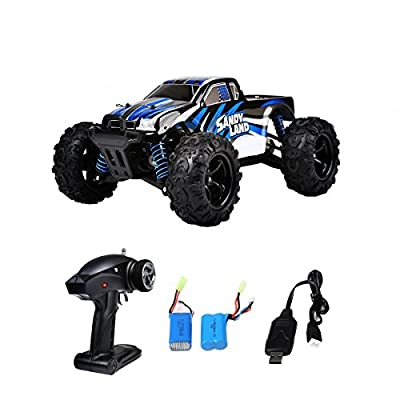 RC Car, Distianert 9300 Electric RC Car Offroad Remote Control Car 1:18 Scale 2.4Ghz 4WD High Speed 30MPH with An Extra 7.4V 1200MAH Rechargeable Battery